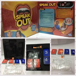 Wholesale 2016 NEW Speak Out Game KTV Party Game Cards For Party Christmas Gifts Newest Best Selling Toy With Retail Box PPA467