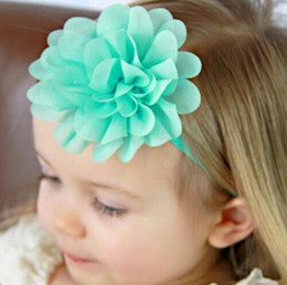 Girls Baby Headband Chiffon Flower Baby Headband Elastic Hairband Flowers Headband Girl Toddler Headbands Hair Accessories