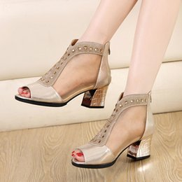Rome sexy female summer sandals hollow fish mouth
