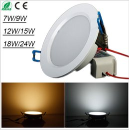 16 new arrivals Super bright 7W 9W 12W 15W 18W 25W Led Ceiling Light Cool White Warm white AC85-265V Panel Light