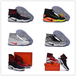 Wholesale New Arrival Hyperdunk Lapel Basketball Shoes for Top quality Rio Olympic USA Weaving Airs Cushion Trainers Sneakers Size