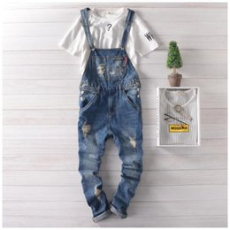 Wholesale Denim Jumpsuit For Men Adult Jeans Overalls Mens Denim Bib Overalls For Men Size S XXL