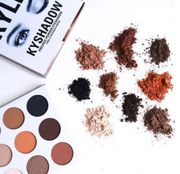 Wholesale Kylie Kyshadow Pressed Powder eyeshadow palette Bronze Palette Kyshadow Kit Creme Shadow Kylie Jenner Cosmetics Colors Eyes makeup Kit