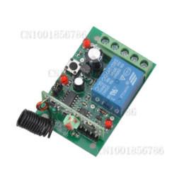 Descuento control remoto 315 DC24V 1CH Relay Interruptor de mando a distancia Receptor Transmisor de potencia Remoto ON OFF Código de aprendizaje Momentary Toggle Latched 315 / 433MHZ