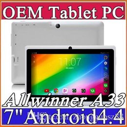 Wholesale 40X inch Android4 Google mAh Battery Tablet PC WiFi Quad Core GHz MB GB Q88 Allwinner A33 quot Dual Camera A PB