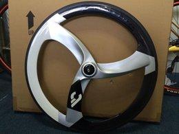 Wholesale ruedas carbono carretera carbon road bike wheels clincher track C carbon spoke fixed gear wheel