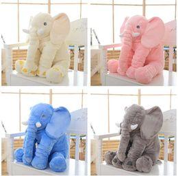 Wholesale Baby Animal Elephant Pillow Feeding Cushion Children Room Bedding Decoration Kids Plush Toys Children s blanket colors best