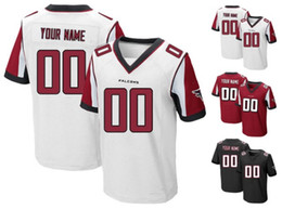 Wholesale 2016 Falcons Men s Elite Custom Atlanta Football Jersey Home Away White Black Red Any Name Number RYAN JONES High Quality Stitched Wear