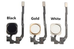 Wholesale For iPhone S S plus Home Button Home Key Flex Cable Ribbon Assembly for iphone s Black White Gold