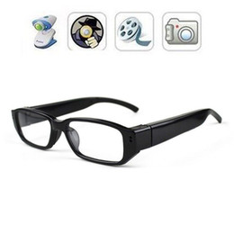 32GB HD DVR 720x480P Glasses Camera Eyewear Security Camera Video Audio Recorder Camcorder Portable Camcorders Mini DV DVR