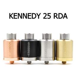Cobre vaporizador mod en Línea-Vaporizador KENNEDY 25 RDA atomizadores 25 mm Diámetro SS Negro de latón de cobre rojo PEEK aislante E Cigs Fit Box 510 Mod libre de DHL