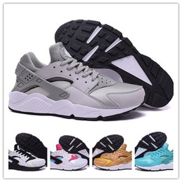 Wholesale 2016 Original quality Air huarache triple black huarache men women shoes For online hot sale size