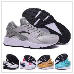 Wholesale 2016 Original quality Air huarache triple black huarache men women shoes For online hot sale size