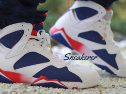 Wholesale 2016 high quality air retro VII olympic Tinker Alternate s Raptor Hares Bordeaux GG Cardinal French Blue basketball shoes men Sneakers