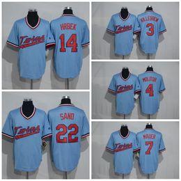 Wholesale Throwback Minnesota Twins Miguel Sano Baseball jersey Harmon Killebrew Paul Molitor Joe Mauer Kent Hrbek Flexbase Jerseys Blue