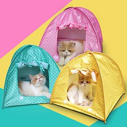 Wholesale Tent House Camp Water Resistant Cute Dots Style Pet House Tent for Small Size Dogs and Cat