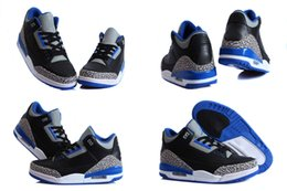 Wholesale 9 Colours With Box High Quality Air Retro III Sport Blue Powder Blue Batman Men s Basketball Sneakers Trainers Shoes Hot Sale Discount