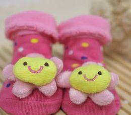 Baby Anti Slip Newborn 13-18Month Cotton Lovely Cute Shoes Animal Cartoon Slippers Boots Boy Girl Unisex Skid Rubber Sole Socks