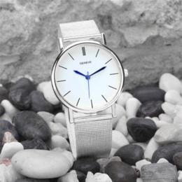 Wholesale Durable nuevas mujeres del reloj del cuarzo de la venda del acero inoxidable de la manera Mujeres Accesorios Relojes Relojes Pulsera