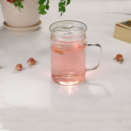 Wholesale promotional hot sale crystal glasses office drinking glass flower tea tumblers heat resistant glass set