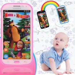 Wholesale good news Multifunction Baby Mobile Phone Simulator Music Phone Touch Screen Model Russian Language