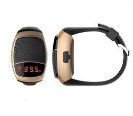Wholesale Bluetooth Speaker B90 Smart Watch Speaker Wireless Subwoofers Speaker Within Display Screen Alarm Clock Selfie Photo Multi function