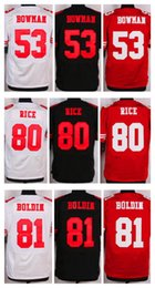 Wholesale NIK Elite Football Stitched ers NaVorro Bowman Rice Boldin White Red Black Jerseys Mix Order