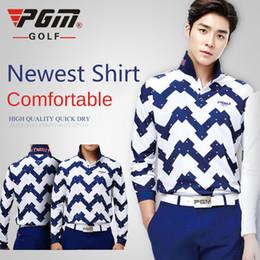 Wholesale Authentic PGM Golf T Shirts Korean Men Spring Long Sleeve Shirts Male Fashion Golf Sport Clothes Autumn T Shirt Apparel