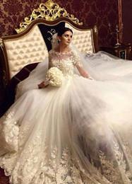Victorian Modest Wedding Dresses Ball Gowns Long Sleeve Vintage Lace With Appliques Summer Beach Bridal Gowns Arabic Vestido De Novia Custom