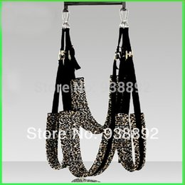 Wholesale Sex swing Adult Products Couple flirting Sex Toys animal print Swing Couple passion Lovers LLS139