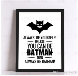 Wholesale Canvas Wall Art Quote - Batman Quote Canvas Art Spray Painting, Wall Pictures for Home Decoration, Frame not include,Wall Painting DIY