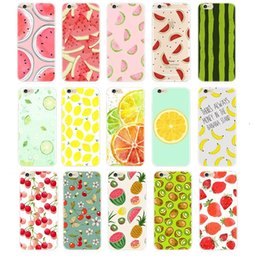 Wholesale Fruit case For Apple iPhone S Plus S s Plus TPU Transparent Soft Silicon Pineapple Lemon Banana Thin Phone Cases