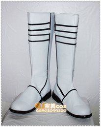 Wholesale-Vocaloid White Rock Shooter Black Rockshooter the Game cos Cosplay Shoes Boots shoe boot #JZ542 anime Halloween Christmas