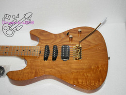 Wholesale guitar High quality Natural color electric guitar free shipping