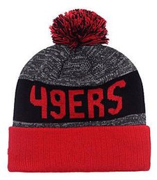 Wholesale New Beanies Heather Gray Sideline Sport Knit Hat Football Pom Knit Hats Sports Cap SF Team Hats Mix Match Order All Top Quality Hat