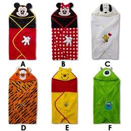 Wholesale Winter Infant Cartoon flannel sleeping bags baby blankets shape sleeping bags dandys