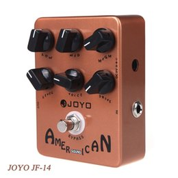 Wholesale JOYO JF American Sound Effect Guitar Pedal with Deluxe Amp Simulator and Unique Voice Control True Bypass