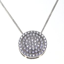 Wholesale New style fashion jewelry silver pendant circular Separable type distribution White zircon Rhodium Plated Engagement gift
