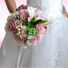 Vintage Pristian Zouboutin Artificial Bridal Flower Wedding Bouquet Flowers Bridal Brooch Bouquet Bridesmaid Flower Bouquet