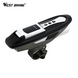 Wholesale 6 Function Cycling Compute Light Sound Bluetooth Phones Bell USB Mobile Phone Charger Bicycle Waterproof Wireless Bike Computer