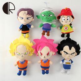 Venta al por mayor-Nuevas llegadas Japaness Anime Dragon Ball Z juguetes de peluche para los niños niñas Super Héroe Goku Vegeta relleno muñecas 20CM dibujos animados Bringuedos desde superhéroes juguetes de peluche fabricantes