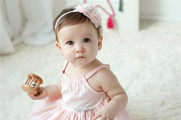 Wholesale Fashion Baby Girl Candy Color Flower type Knot Headband Newborn Infant Hair Accessories Children Elastic Hair Bands C