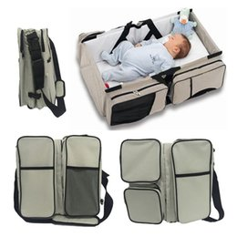 Wholesale 3 in Travel Bassinet Diaper Bags Portable Crib Infant Baby Bed Changing Station Nursery Travel Bed