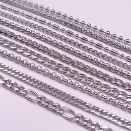 box   Figaro   cowboy   Bamboo Many style stainless steel necklace chain 24inch