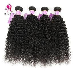 Wholesale 7a Malaysian Virgin Hair Bundles Kinky Curly Hair Wefts Black Double Weft Kinky Curl Hair