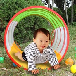 Wholesale Play Tunnel Toy Tent Child Kids Pop up Discovery Tube Best Kids Christmas Gift Outdoor Fun amp Sports Toy Tents