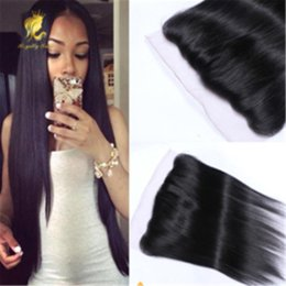 Wholesale Brazilian straight Lace Frontal Closure With Baby Hair ear to ear lace frontal x2 middle free part Full Lace Frontal Closure