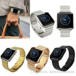 Bandas de acero inoxidable enlaces en venta-Acero inoxidable de la pulsera del acoplamiento del reloj de la correa de Bandas con la herramienta de Fitbit Blaze Control de actividad inteligente reloj de la aptitud