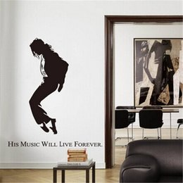 Wholesale 150x140cm Michael Jackson Wall Stickers for Kids Rooms Living Room Home Decor Wall Decor Decoration Mural Art
