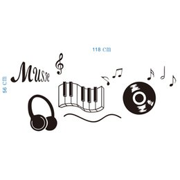 Wholesale Music score of the wall stickers The sitting room the bedroom wall stickers Indoor wall stick Personality wall stick